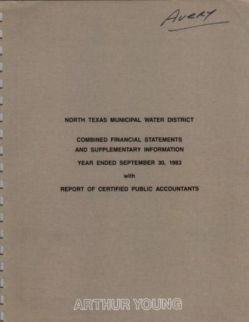 1983-09-30 - North Texas Municipal Water District