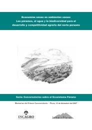 1er Conversatorio Páramos Perú - Mecanismo de Información de ...