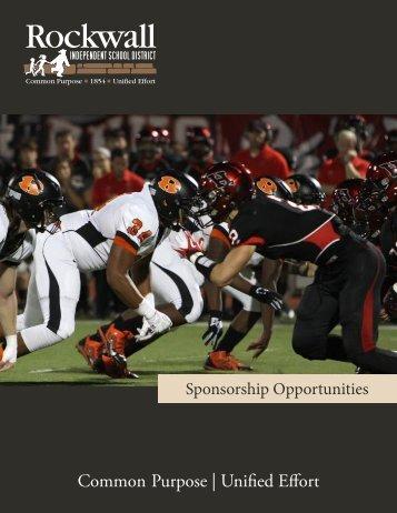 Sponsorship Opportunities - Rockwall ISD