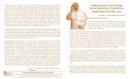 Mensaje del papa francisco para la jornada misionera mundial