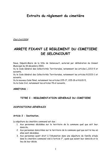 extrait_ARRETE REGLEMENT.02-04 - Mairie de Seloncourt