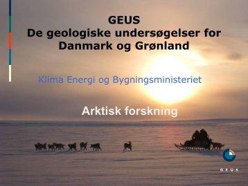Karen Edelvang: GEUS arktiske aktiviteter