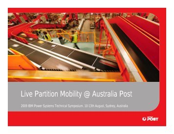 Live Partition Mobility @ Australia Post - Gibsonnet.net