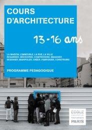 Programme pédagogique 2012-2013 / 13-16 ans - (CAUE75) Paris