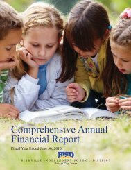 Comprehensive Annual Financial Report - Birdville Independent ...
