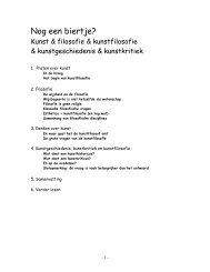 inleiding in de kunstfilosofie - Kabk