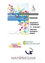 Programmheft mit Deckblatt - Joseph Haydn Konservatorium