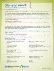 Preventative Care Guidelines