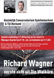 Speciale aanbieding: € 7,60 korting op het concert in Nijmegen - Kabk
