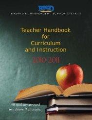 Teacher Handbook for Curriculum and Instruction - Birdville ...