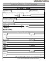 Demande d'accréditation d'un organisme - Prévost