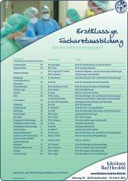Erstklassige Facharztausbildung - Klinikum Bad Hersfeld-Gruppe