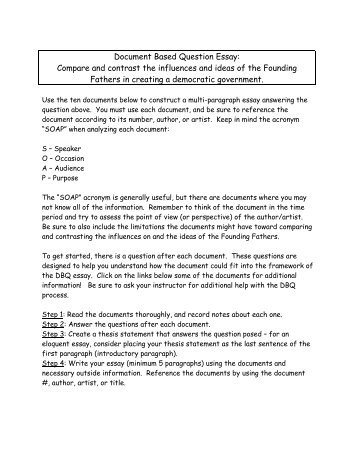 revolutions document based question essay Document-based question document and any point of view that may be presented in the document historical context: revolutions • is a well-developed essay.