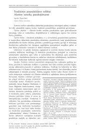 Tradicinės pasaulėžiūros reliktai Alantos senolių pasakojimuose
