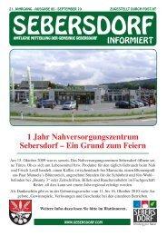 1 Jahr Nahversorgungszentrum Sebersdorf - Gemeinde und ...