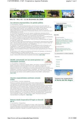 pagina 1 van 2 CAF INFORMA - CAF - Cooperativas Agrarias ...