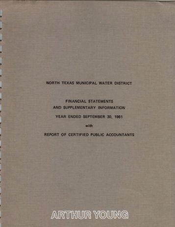 1981-09-30 - North Texas Municipal Water District