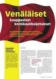 Venäläiset kaappasivat kemikaalikuljetukset - Kemia-lehti