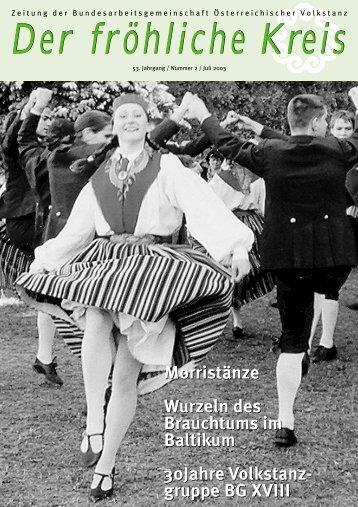 Morristänze Wurzeln des Brauchtums im Baltikum ... - Volkstanz.at