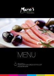 Mario´s menu - Tapahtumaravintolat