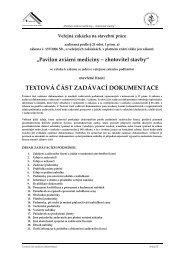 textová část zadávací dokumentace - Veterinární a farmaceutická ...