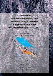 Yhteenveto MammuttiKivi-kaivoksen ... - NunnaUuni