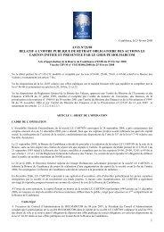1 avis n°21/08 relatif a l'offre publique de retrait obligatoire des ...