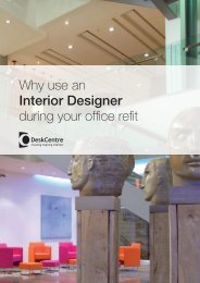 Why use an Interior Designer during your office refit - Desk Centre