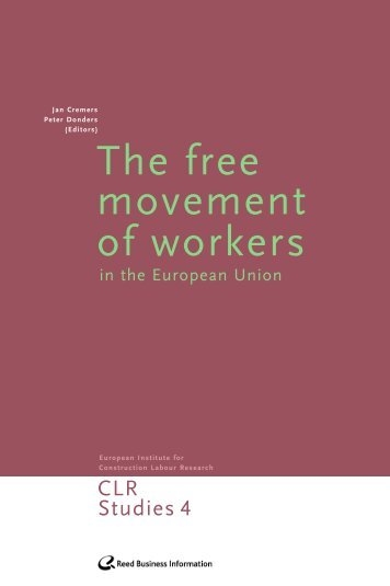 The free movement of workers - Construction Labour Research