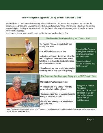 Services Guide - The Wellington Retirement Residence