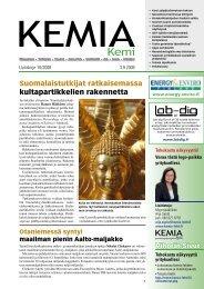 Uutiskirje 10/2008 03.09.2008 pdf - Kemia-lehti