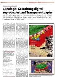 «Analoge» Gestaltung digital reproduziert auf Transparentpapier