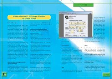 Projekt elektronické inteligentní formuláře ve veřejné ... - Egovernment