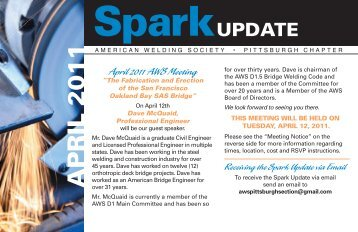 April 2011 AWS Update - American Welding Society