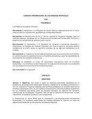 CONVENIO INTERNACIONAL DE LAS MADERAS TROPICALES ...