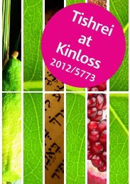 'Tishrei at Kinloss' guide to see what's on!