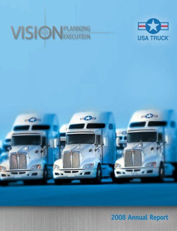 2008 Annual Report - USA Truck