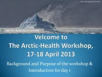 Background and purpose of the workshop - Arctic Research Centre