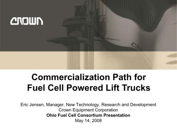 Commercialization Path for Fuel Cell Powered Lift Trucks