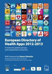 European Directory of Health Apps 2012-2013 - StAZ