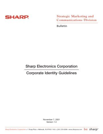 Sharp Electronics Corporation Corporate Identity Guidelines