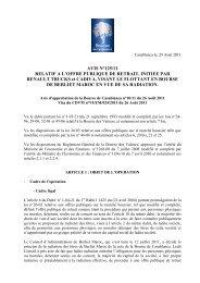 OFFRE PUBLIQUE DE RETRAIT, INITIEE PAR RENAULT TRUCKS ...