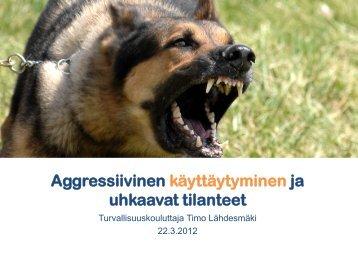Aggressiivinen käyttäytyminen ja uhkaavat tilanteet, Timo Lähdesmäki