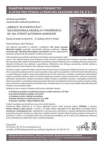 obrazy, ze kterých žiji - Portál české literatury