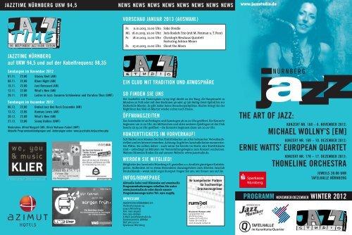 THE ART Of JAzz - Jazzstudio Nürnberg