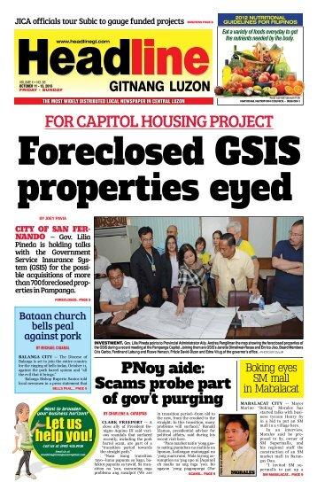 For CaPItoL houSInG ProjeCt - Headline Gitnang Luzon
