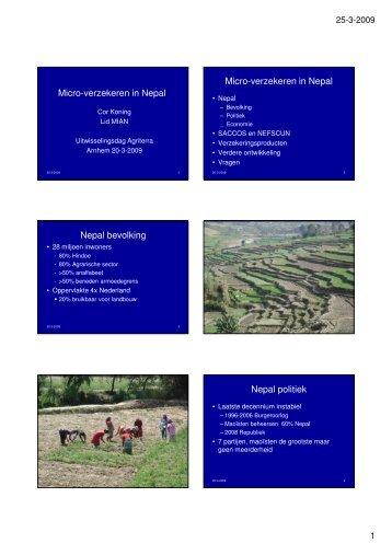 Micro-verzekeren in Nepal Micro-verzekeren in Nepal ... - Agriterra