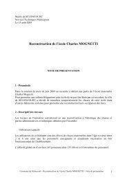 reconstruction Mognetti_Note de présentation 20090813 - mairie de ...