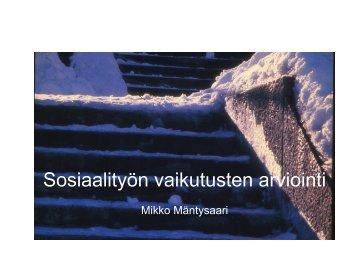 Mikko Mäntysaari, sosiaalityön professori ... - Sosiaalikollega