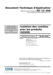 DTA Isolation des combles n° : 20/12-266 - Isover
